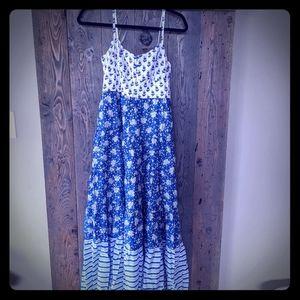 J. Crew Print Maxi Dress 0